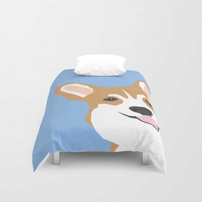 d17fbbfa4015 Corgi Peek cute dog welsh corgi gift unique pet customizable gifts for dog  lovers Duvet Cover by petfriendly | Society6