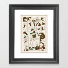 The Reichenbach Fall Guide Framed Art Print