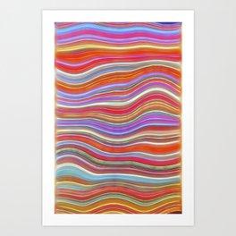 Wild Wavy Lines 11 Art Print