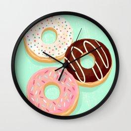 Donut trio Wall Clock