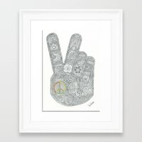 peace Framed Art Prints featuring Peace by Ian Nicholson