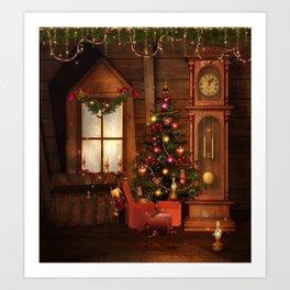 Old Christmas Room Art Print