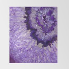 Purple Crystal Throw Blanket