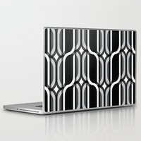bauhaus Laptop & iPad Skins featuring Bauhaus Type Black and White Art by Addison Barker