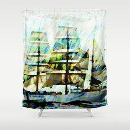 Coast Guards sailship Shower Curtain