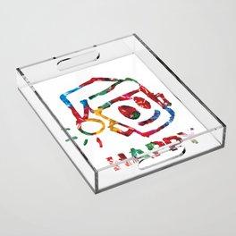 HAPPY CHRISTMAS Acrylic Tray