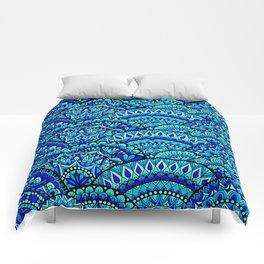 Wavey Mandalas Comforters