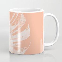 Orange Monstera Leaf Coffee Mug