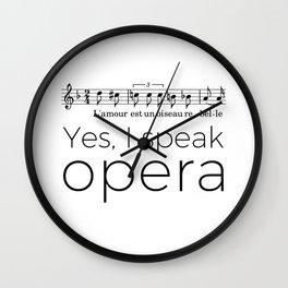 I speak opera (mezzo-soprano) Wall Clock