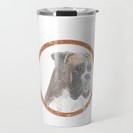 "A Nice Boxing Tee For Boxers Saying ""Boxer Dad"" T-shirt Design Dog Pug Bulldog Boxer Ring Gloves Travel Mug"