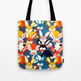 Rabbit colored pattern no2 Tote Bag