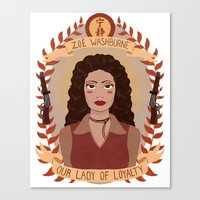 heymonster Canvas Prints featuring Zoë Washburne by heymonster