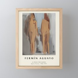 Poster-Fermin Aguayo-A space for nudes. Framed Mini Art Print