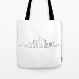Los Angeles Skyline Drawing Tote Bag