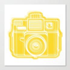 I Still Shoot Film Holga Logo - Sunshine Yellow Canvas Print