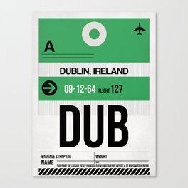DUB Dublin Luggage Tag 1 Canvas Print