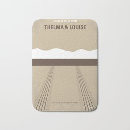 No189 My Thelma and Louise minimal movie poster Bath Mat