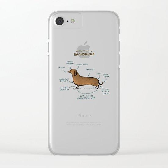 Anatomy of a Dachshund Clear iPhone Case