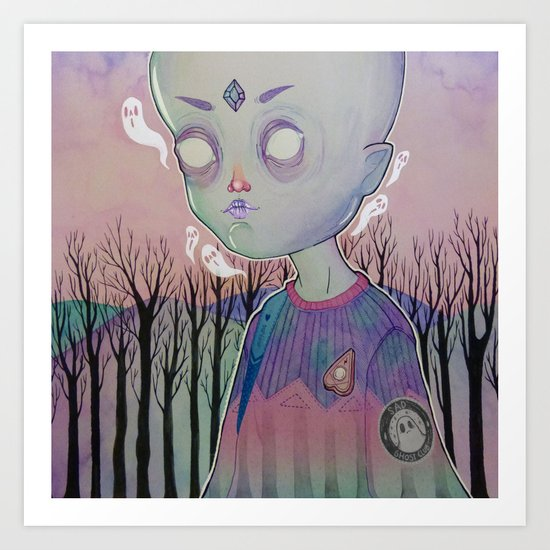 Little Ghost Art Print