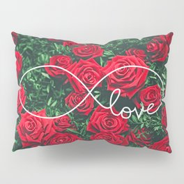 Red Roses Photography & Infinity Love Sign Pillow Sham