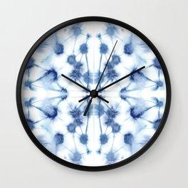 Mirror Dye Blue Wall Clock