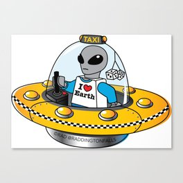 Alien Taxi Canvas Print