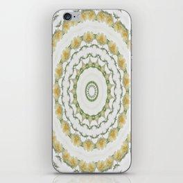 Creamy Yellow Rose Kaleidoscope Art 5 iPhone Skin