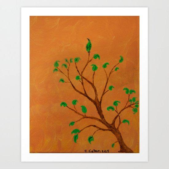 Blending in Art Print