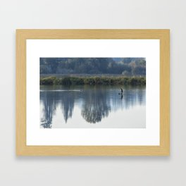 Solitary Blue Framed Art Print