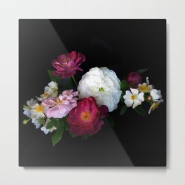 Old Fashioned Roses Metal Print