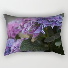Big Hortensia flowers in front of a window Rectangular Pillow
