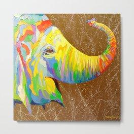 Smiling elephant Metal Print