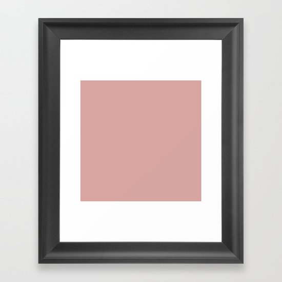 Rose Blush Pink D9A6A1 Solid Color Block Spring Summer by beautifulhomes