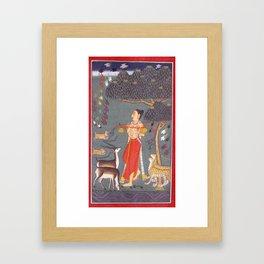 Ragamala Painting 3 Framed Art Print