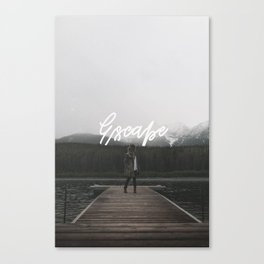 Escape - Typography on Photography Print Canvas Print
