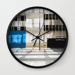 One Way - Exit Only Wall Clock