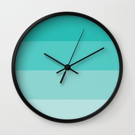 Teal Ombre Coloured Wall Clock
