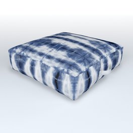 Tiki Shibori Blue Outdoor Floor Cushion