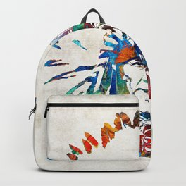 Native American Art - Chief - By Sharon Cummings Backpack