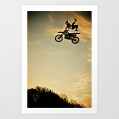 Eigo Sato at Sunset, FMX Japan Art Print