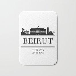 BEIRUT LEBANON BLACK SILHOUETTE SKYLINE ART Bath Mat