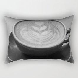 Cafe Heart - Black and White Rectangular Pillow