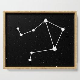 Libra Star Sign Night Sky Serving Tray