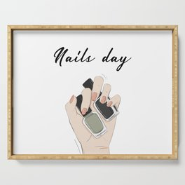 Nails day Serving Tray