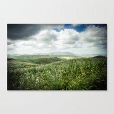 Hills of Sicily Canvas Print