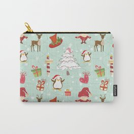 Christmas Elements Reindeer Design Pattern Carry-All Pouch