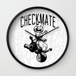 Checkmate Punch Funny Boxing Chess Wall Clock