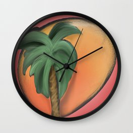 Palmtree Wall Clock