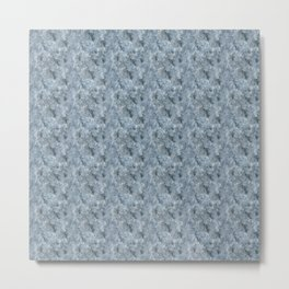 Light Blue Celestite Close-Up Crystal Metal Print