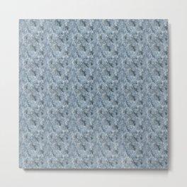 Light Blue Celestite Close-Up Crystal Metal Print